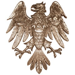 Large Spread Eagle Wall Plaque, Heraldic Trade Sign