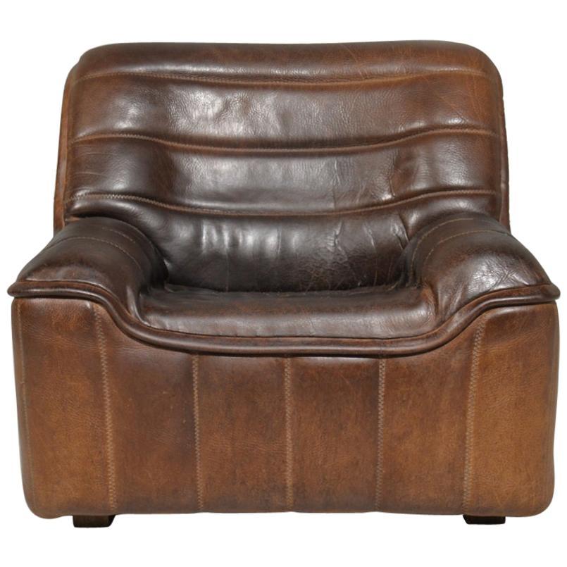 Vintage De Sede DS 84 Neck Leather Armchair, Switzerland, 1970s