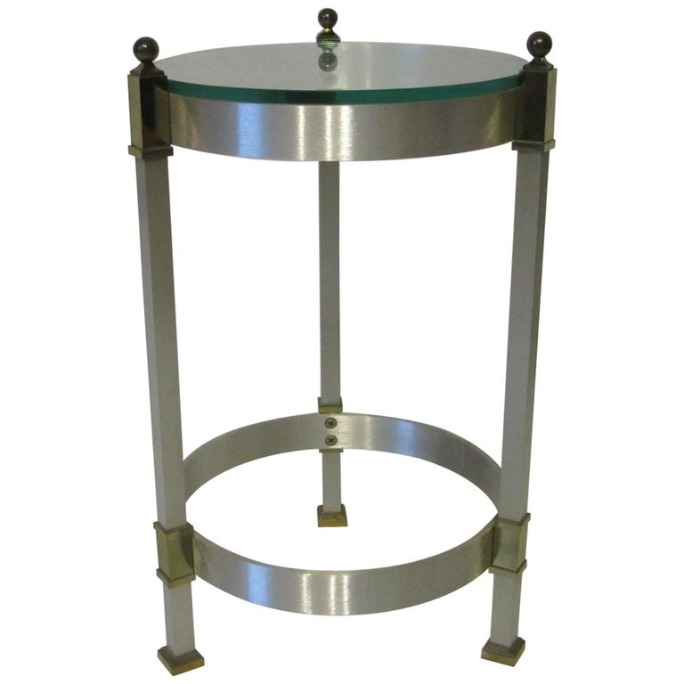 Side Table or Cigarette Table in the Style of Maison Jansen For Sale