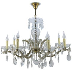 Maria Theresa Style Eight-Light Crystal Chandelier