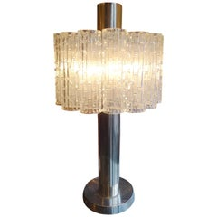 Mid-Century Modern Glass Table Lamp