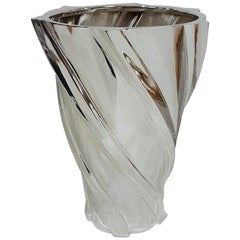 Italian 20th Century Sterling Silver Torchon Vase