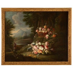 Italian 18th Century Louis XVI Oil Painting in its Original Giltwood Frame