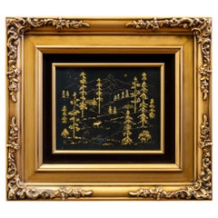 Stunning 18-Karat Gold Nugget Art