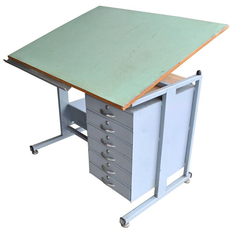 Industrial Drafting Table Desk For Sale At 1stdibs