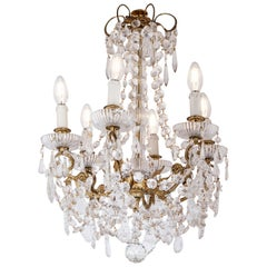 20th Century Gilded Bronze Crystals French Chandelier