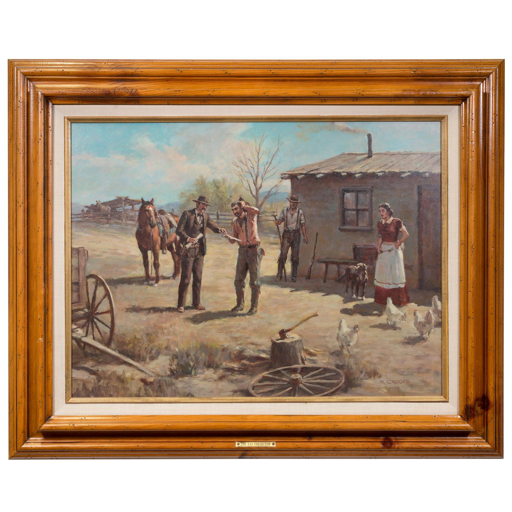"""Original Painting """"Tax Collector"""" by Ron Crooks"""
