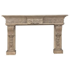 19th Century French Louis XIV Fireplace Surround, Mantel