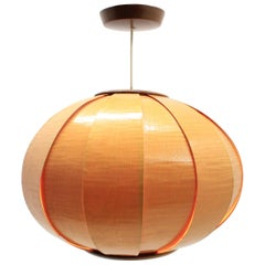 Midcentury Pendant from Veneer in Style of Verner Schou, 1960s