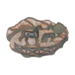 20th Century Handmade Copper Wall Sculpture