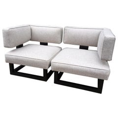 2-Piece Loveseat in the Style of James Mont