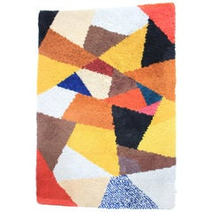 Midcentury Geometric Carpet, Rug, Denmark, 1960s