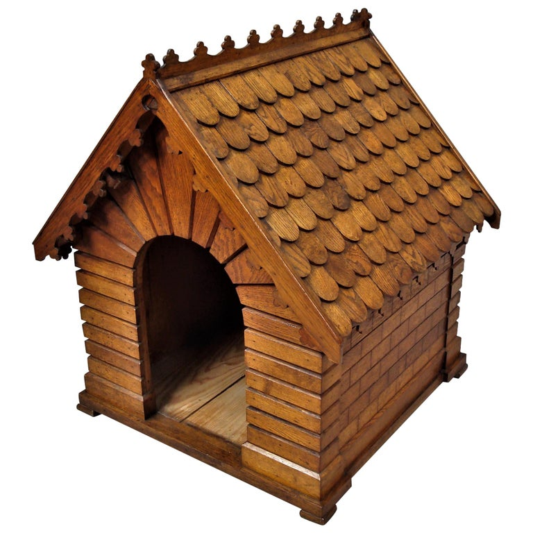 19th Century Oak Dog House or Dog Kennel For Sale