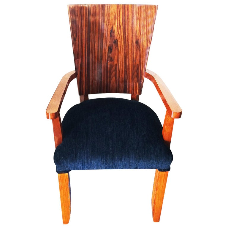 Set of Twelve Art Deco  Dining Chairs Including 2 Carvers For Sale