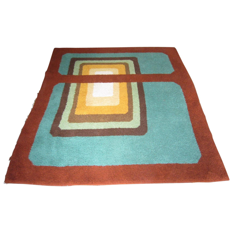 Original Modernist Carpet with Bold Geometric Design