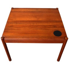 Magnus Olesen Flip Top Solid Teak Side or Coffee Table for Durup 1960s Denmark