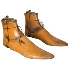Antique Wood and Bronze Shoe Last, circa 1920