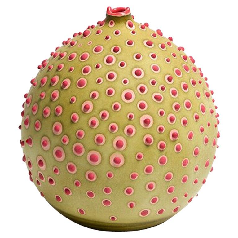 Handmade 21st Century Petri Bud Vase in Olive Green by Elyse Graham