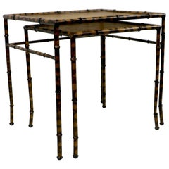 Faux Bamboo on Nesting Tables