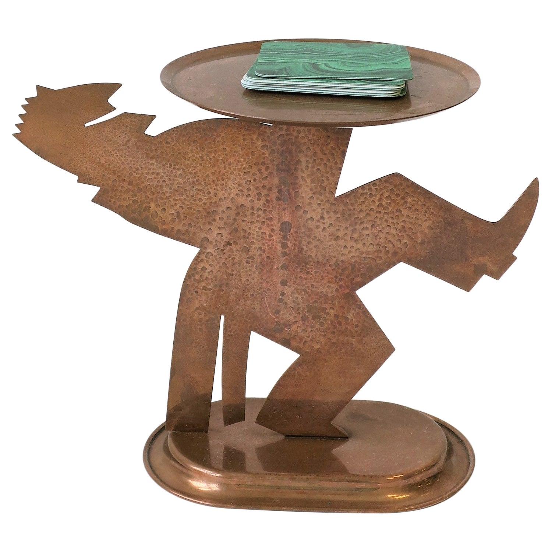 Art Deco Period Copper Figurative Sculpture Piece by Chase