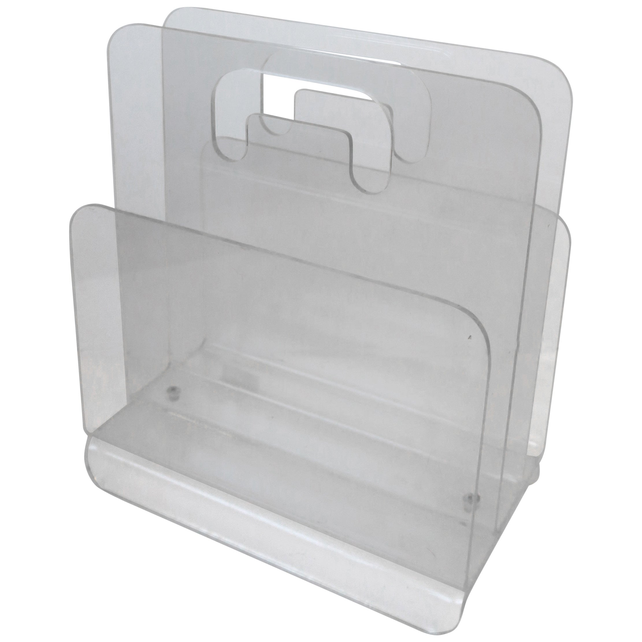 Clear Acrylic Magazine Holder, 1976