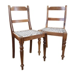 Associated Pair of Late Victorian Colonial Chairs