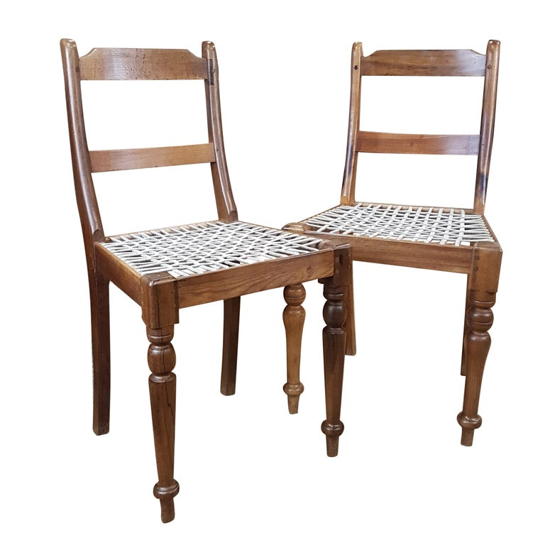 Ociated Pair Of Late Victorian Colonial Chairs For