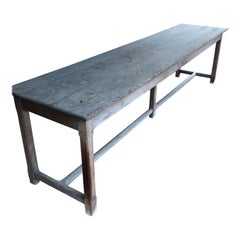 Flemish Monastery Table 18th Century in  Red Pitch Pine