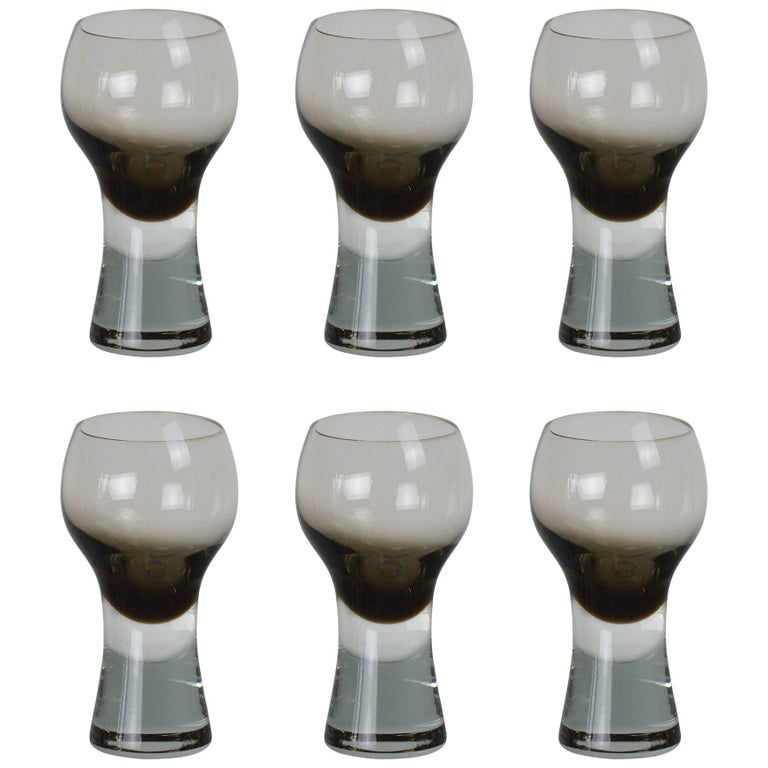 Set of Six Caithness Midcentury Drinking Glasses For Sale