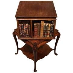 Mahogany Edwardian Period Revolving Bookcase by James Shoolbred of London