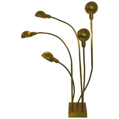 """Hydra"" Floor Lamp by Pierre Folie Jacques Charpentier Edition, 1970s"