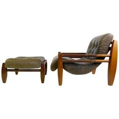 Brazilian Armchair with Ottoman