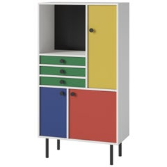 'Avant Garde' Storage Cabinet 'High', Bauhaus Style, Color of Your Choice