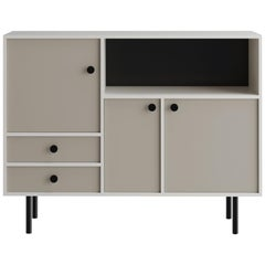 'Avant Garde' Storage Cabinet 'Low,' Bauhaus Style, Color of Your Choice