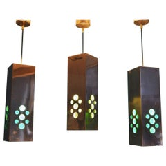 Ceiling Copper Lamp by Hans-Agne Jakobsson, 1960