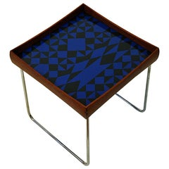 Norwegian Conform Tray Table 1962 with Enamel Top by Hermann Bongard for Plus