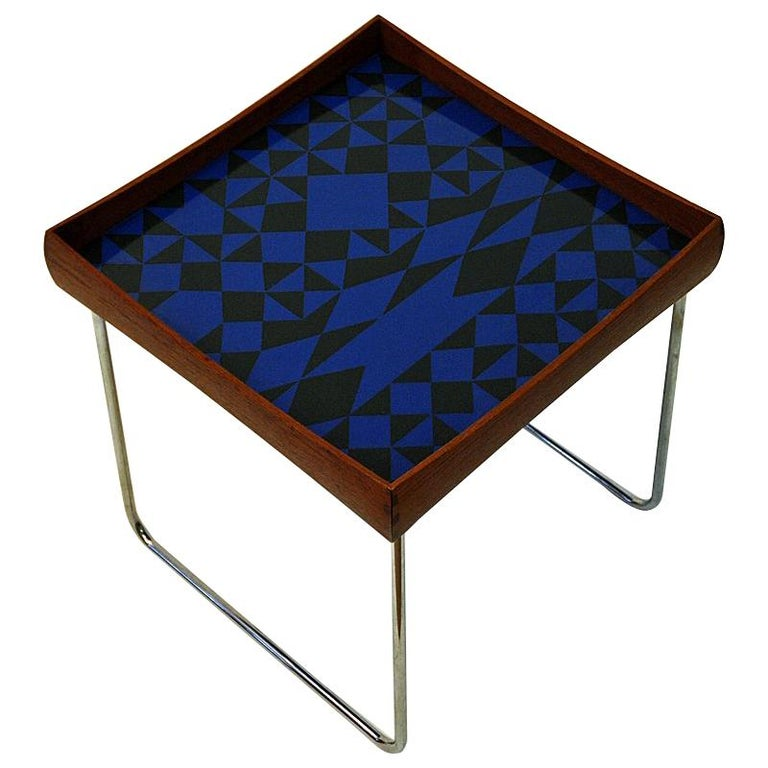 Enamel Tray Coffee Table: Norwegian Conform Tray Table 1962 With Enamel Top By