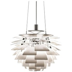 Poul Henningsen White Ph Artichoke Large Chandelier for Louis Poulsen