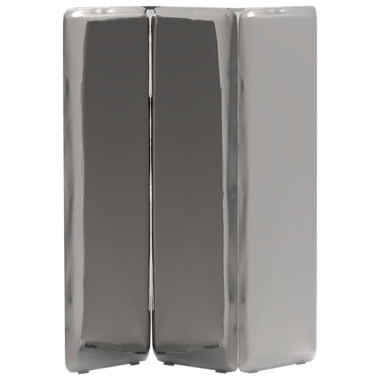 'Sonar' Mirror / Screen in Stainless Steel by Zieta Prozessdesign