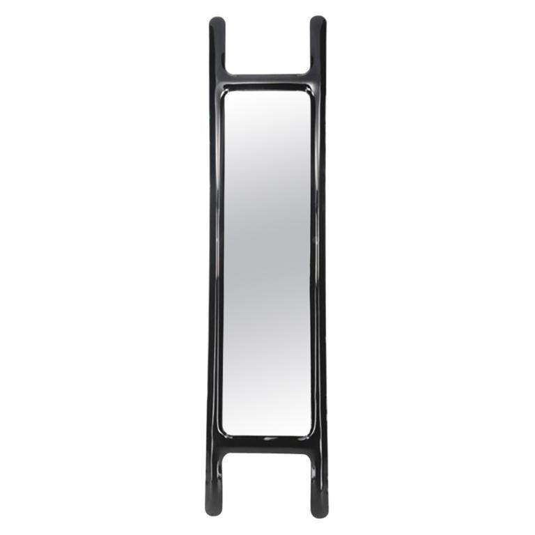 Drab Mirror by Zieta Prozessdesign, Black Steel For Sale