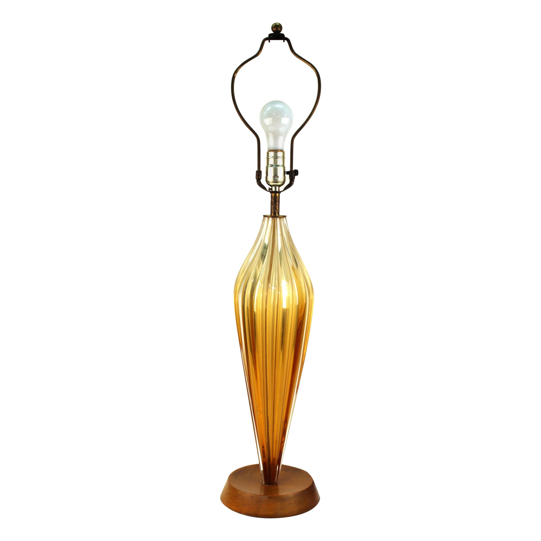 Italian Mid-Century Modern Glass Table Lamp