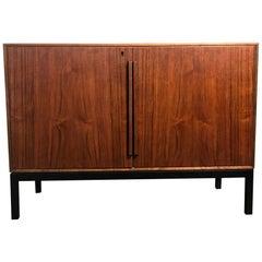 Mid-Century Modern Cabinet with Built-In Refrigerator