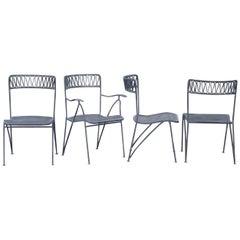 Set of 4 Cool Mid-Century Modern Maurizio Tempestini for Salterini Ribbon Chairs