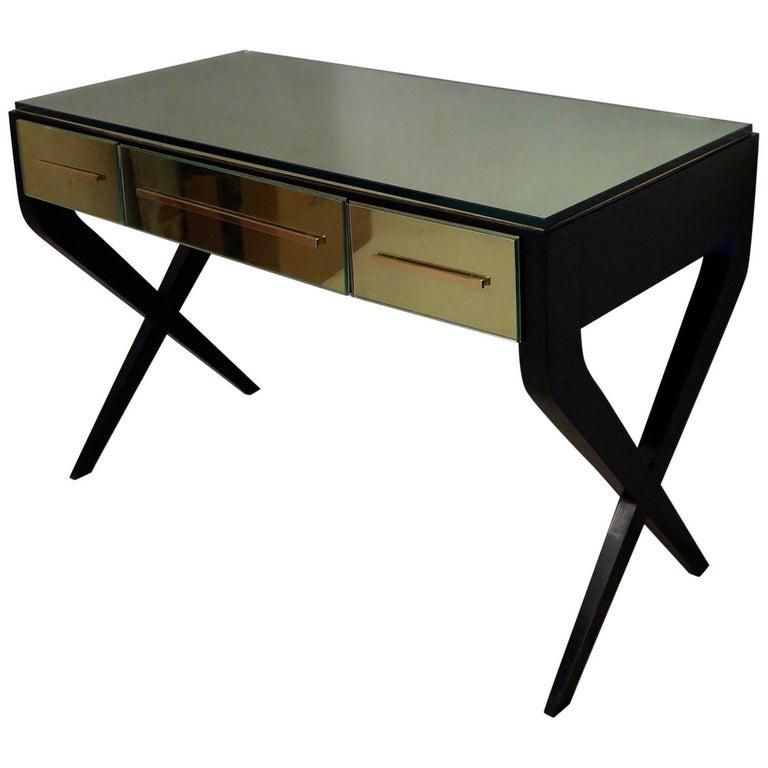 In the Style of Gio Ponti Italian Desk, 1950 For Sale