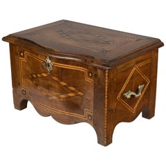 19th Century French Marquetry Minature Coffer