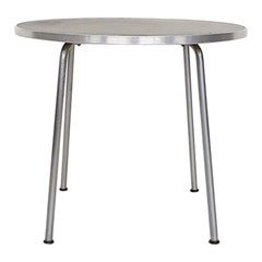Round Gispen Metal Industrial Side Table, Model 501/3601, Dutch Design 1954