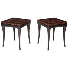 Deco-Inspired, Macassar Ebony Side Table