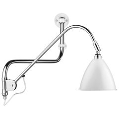 Bl10 Wall Lamp, Chrome, White