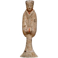 Han Dynasty TL Tested Terra-cotta  Court Lady Statue (206BC - 220AD)