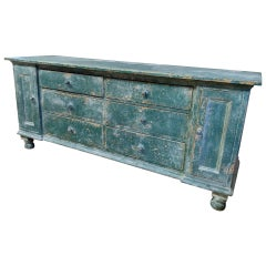 English Original Painted Multi-Drawer Dresser Base